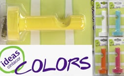 Soporte pared cilindro Ideas Colors 22mm.