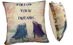 Funda de cojín 45x45cm FOLLOW YOUR DREAMS 1727