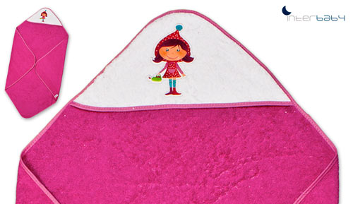 COUCHE de bain 100 x 100 cm - 1079 - little Red Riding Hood - INTERBABY
