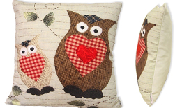 Cushion 45x45cm 1695 owls rag