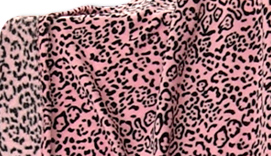 Plaid coral LEOPARDO ROSA