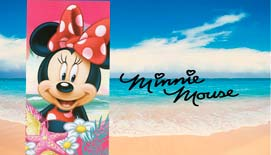 Toalla de playa Microfibra MINNIE PLAYERA 820-710