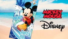 Toalla de playa microfibra MICKEY SURF UP