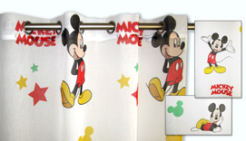 Cortina de visillo con ollaos  Disney MICKEY MOUSE