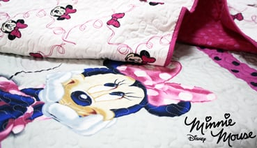 Colcha - Bouti DISNEY MINNIE CHIC - Doble  cara