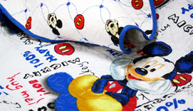 Colcha - Bouti DISNEY MICKEY CHIC - Doble  cara