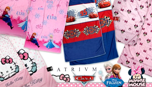 Joc de 2 tovalloles vellut - infantil  - Frozen, Cars, Minnie Mouse, Hello Kitty