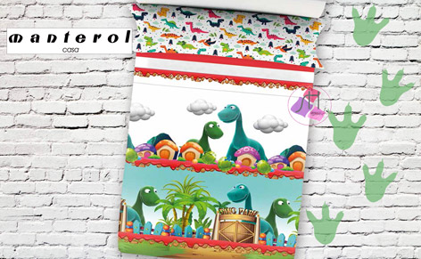Joc funda nórdica JUNIOR 587 DINOSAUR