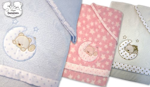 Play coral linen for cot - Moon - DENENES