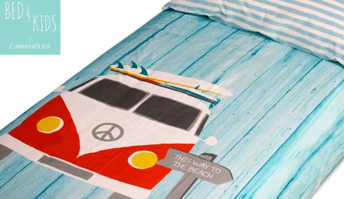 Funda nòrdica 100% cotó - 'RETRO SURF - Bed 4 kids by Gamanatura'