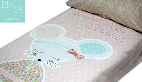 Funda nòrdica 100% cotó - 'BALLERINA MOUSE - Bed 4 kids by Gamanatura'