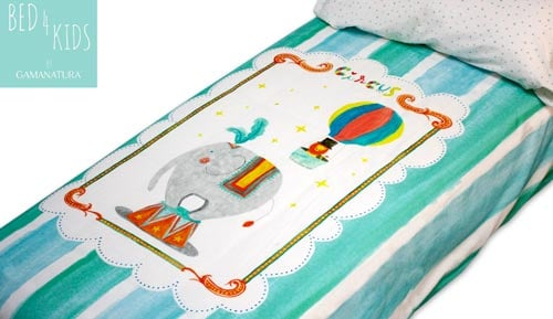 Funda nòrdica 100% cotó - 'CIRCUS - Bed 4 kids by Gamanatura'