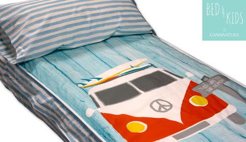 Sac nòrdic infantil sense farciment 100% cotó RETRO SURF - Bed 4 kids by Gamanatura
