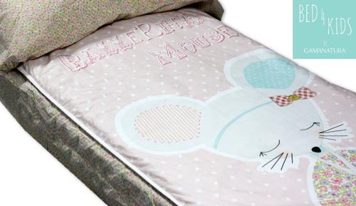 Sac nòrdic infantil 100% cotó - 'Ballerina Mouse - Bed 4 kids by Gamanatura'