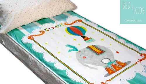 Saco nórdico infantil 100 % algodón  - 'CIRCUS - Bed 4 kids by Gamanatura'