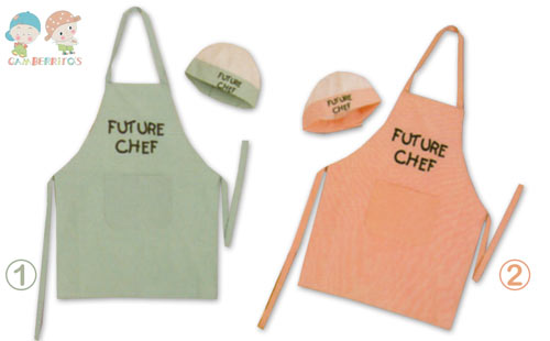 Conjunto delantal + gorro - 'Future chef' - 7263
