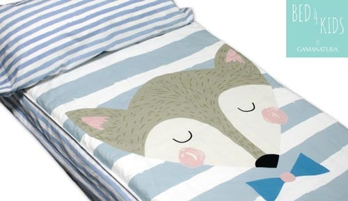 Sac nòrdic infantil sense farcit 100% cotó FOX - Bed 4 kids by Gamanatura