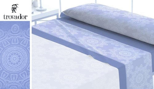 Flannel sheets set 3 pieces-100% cotton - TIBET - Trovador