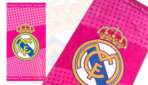 Toalla de playa REAL MADRID - Rosa