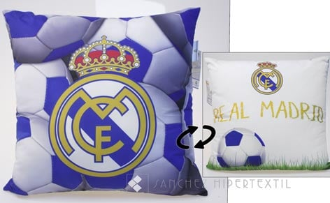 Funda cojín + relleno REAL MADRID KIDS 358