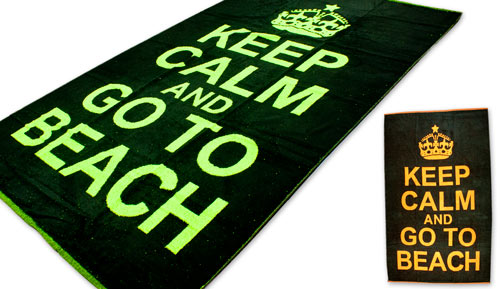 Toalla de playa 100% algodón - 13749 keep calm -