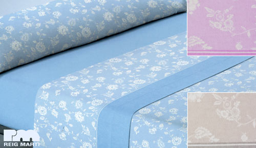 FLANNEL SHEETS 3-PIECE SET - 100% COTTON - FINLAND - REIG MARTI