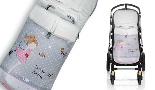 Saco polar de carrito - 10033 - Little pincess - Interbaby