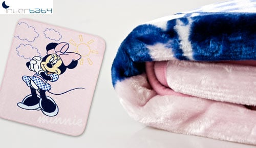 Manta Raschel de bressol - Disney Minnie - Interbaby