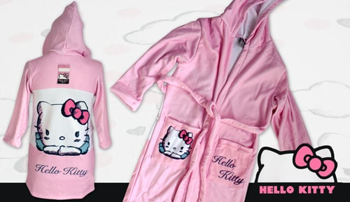 Peignoir velours - enfant - Hello Kitty anges