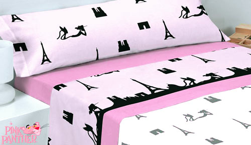 Bed linen set 3-piece - PINK PANTHER - PARIS