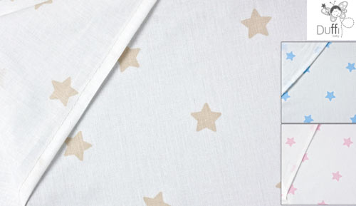 PIECE - 1165 estrellita - 3 baby BEDSHEETS set throughout
