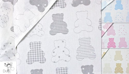3 crib sheets-piece set - 1169 Teddy bear--throughout