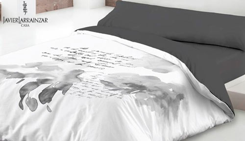 Duvet cover set 3 pieces - typography - Javier larrainzar