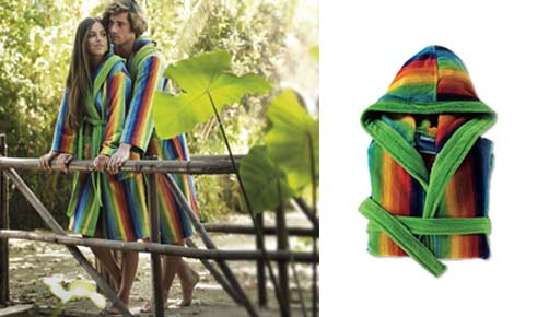 Bathrobe 100% cotton ARCO IRIS MULTICOLORED 518