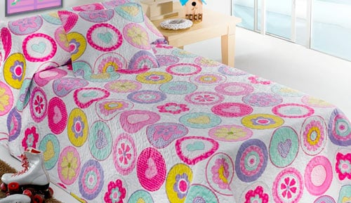 Bouti bedspreads + Cushion cover - 10051 - hearts