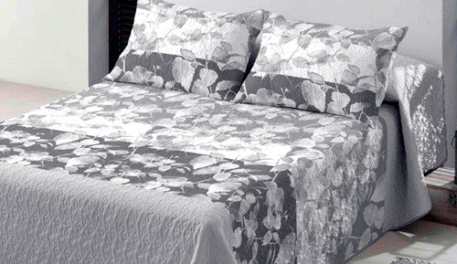 Bouti bedspreads + Cushion cover - KAMILA - Platinum