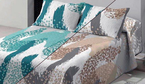 Bouti bedspreads + Cushion cover - NAIROBI - Platinum