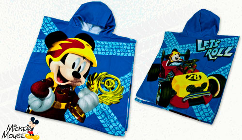 PONCHO - TOALLA MICROFIBRA - Mickey Mouse 2808 Let's Roll!