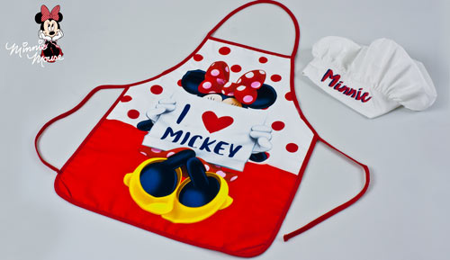 CONJUNT DAVANTAL + GORRA - Cookset - Minnie Mouse