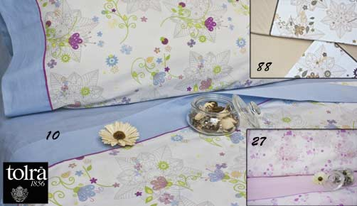Bed linen set 3/4 pieces 2623 FLOWERS by TOLRA