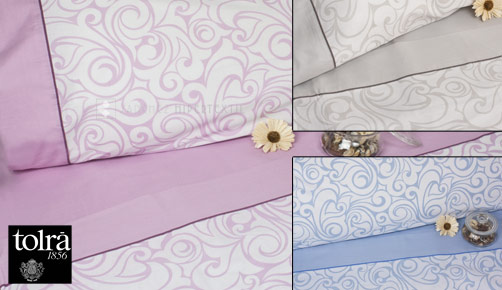 Bed linen set 3/4 pieces 100% cotton TK021 by Tolrà