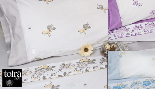 Bed linen set 3/4 pieces 100% cotton TK020 by Tolrà