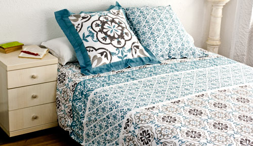 Duvet cover + 2 cushion covers - 100% cotton - Lisbon