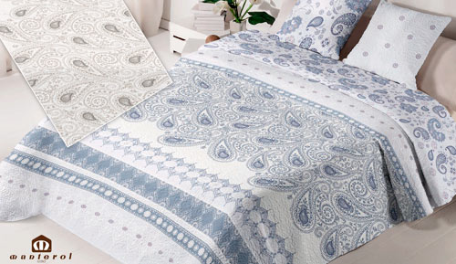 Bouti reversible bedspread + cushion covers - 089 Summer - MANTEROL