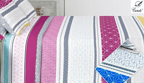 BOUTI REVERSIBLE BEDSPREAD + case cushion - Basra - CAÑETE