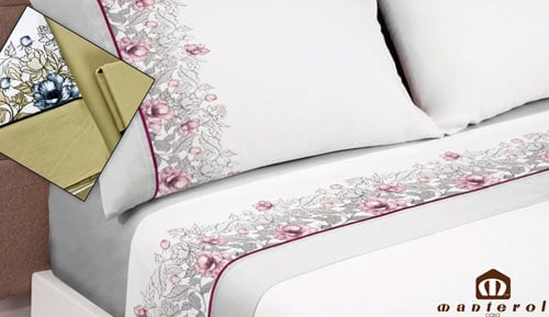 Bed linen set 100% cotton - cotton 627 - Manterol