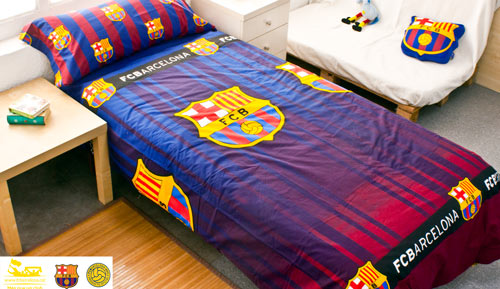 Duvet cover 2 pieces FC Barcelona - shield - 233