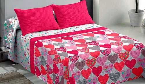 Bouti bedspreads + Cushion cover - Love - ECLIPSE