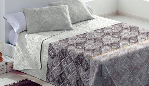 Bouti reversible bedspread + cushion covers - Tasmania - Paduana