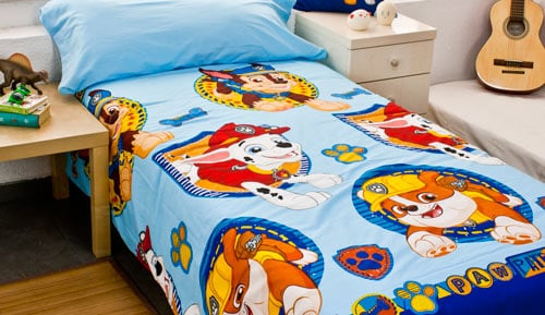 SET DUVET cover set 2 pieces 100% cotton -Paw Patrol - 11 blue
